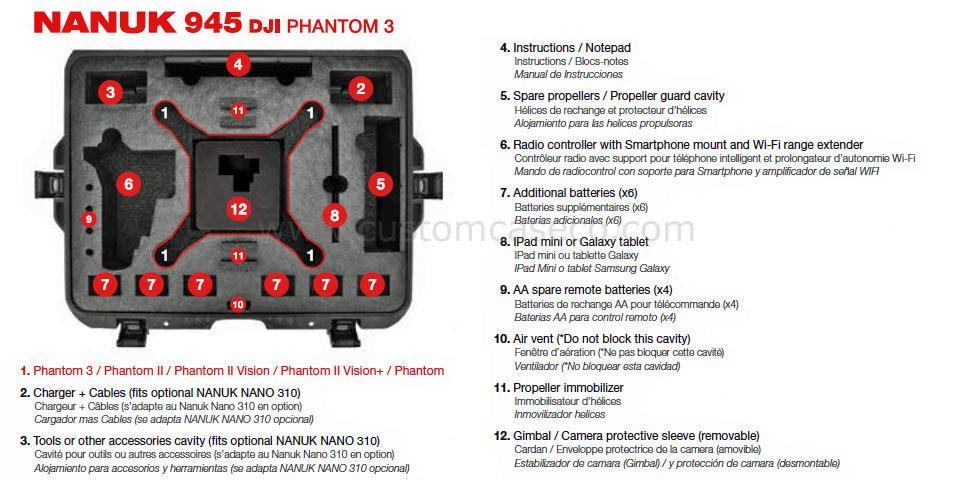 Nanuk 945 DJI™ Phantom 3 Case